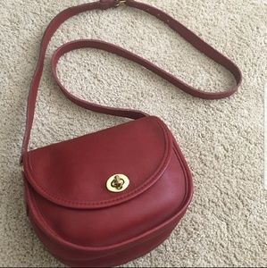Coach Vintage Leather Red Watson 9981 Crossbody
